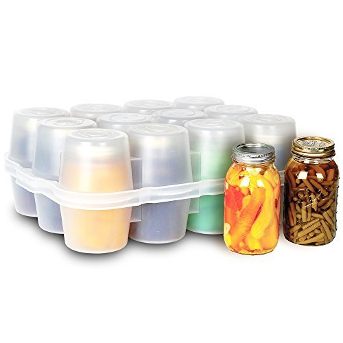 (Canning Jar Storage Boxes - Quart Size Quart Jar Box)