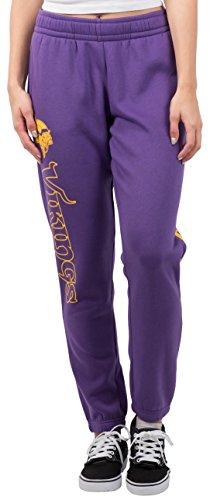 Minnesota Sweatpants - NFL Women's Minnesota Vikings Jogger Pants Relax Fit Fleece Sweatpants, X-Large, Purple