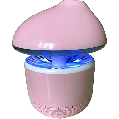 USB Powered Mosquito Killer Summer Mosquito Inhaler LED Insect Repeller Mosquito Killer Lamp Household Indoor Bug Zapper   Pink, Russian Federation