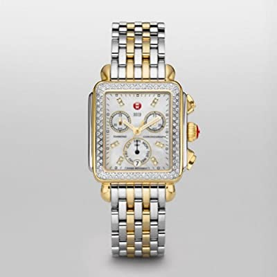Michele Watches, Women's Signature Deco Two-Tone Diamond, Diamond Dial