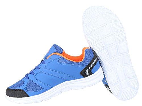 Herren Schuhe Sneaker Schnürer Freizeitschuhe Blau