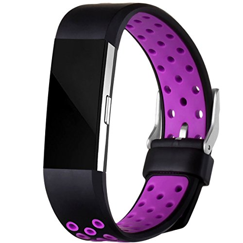 For Fitbit Charge 2 Bands, Maledan Replacement Accessory Sport Bands With Air Holes for Fitbit Charge 2 HR, Small