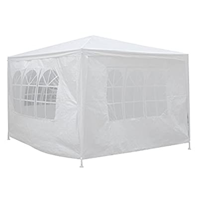 Smartxchoices White Gazebo Canopy Tent Outdoor Heavy Duty Wedding Party Camping Cater Events Pavilion Patio Tent with Sides and Windows