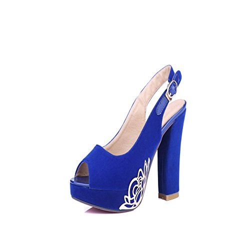 Solide balamasa High Boucle Sandales Heels Femme Bleu AFFPwqv