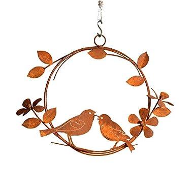 Elegant Garden Design Singing Birds Wreath, Rusty Patina