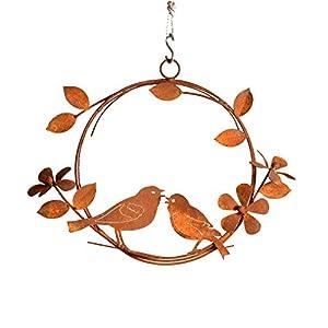 Elegant Garden Design Singing Birds Wreath, Rusty Patina 94