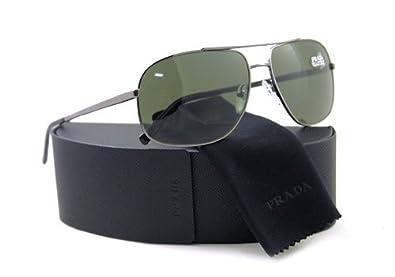 Amazon.com: Prada anteojos de sol SPR 53 M 5 av-301 Negro ...