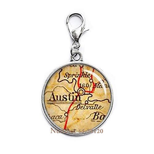 Yijianxhzao Austin Lobster Clasp,Austin Texas,Austin TX,Map Zipper Pull,Austin Map,Austin Zipper Pull,Texas Zipper Pull,Texas Map,BV084 (Show Me A Map Of Austin Texas)
