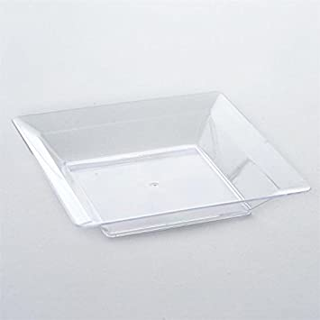BalsaCircle 36 pcs 4.25-Inch Clear Plastic Square Plates - Disposable Wedding Party Catering Tableware & Amazon.com: BalsaCircle 36 pcs 4.25-Inch Clear Plastic Square Plates ...