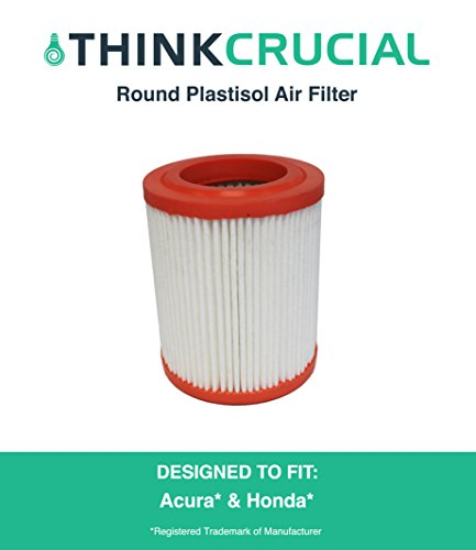 Round Plastisol Air Filter Fits Acura RSX, Acura CSX Canada, Honda Truck, Honda Civic & More, Compare to Part # A25456 & CA9493, Designed & Engineered by Think Crucial