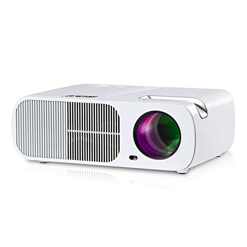 ColoFocus 1080P Multimedia HD LED Projector,2600 Lumens with HDMI/VGA/USB/AV/TV for Video TV Movie Party Game Home Cinema Theater (White) by ColoFocus