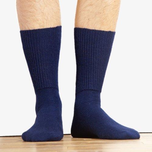 Wholesale Alpaca Knit Pair of Dress Socks Fair Trade Navy Blue Peru Size Lg 8-11 Unisex *223*