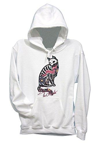 Sweatshirt Dia De Los Muertos Schädel Katze Knochen - Berühmt by Mush Dress Your Style