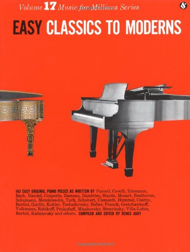 Easy Classics to Moderns (Music for Millions, Vol. 17) (Amsco Music)