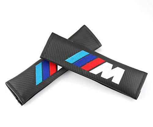 - 2pcs M Carbon Fiber PU Car Seat Belt Pads Shoulder Strap Cover Pads for BMW 1 3 5 7 Series X2 X3 X4 X5 X6 X7