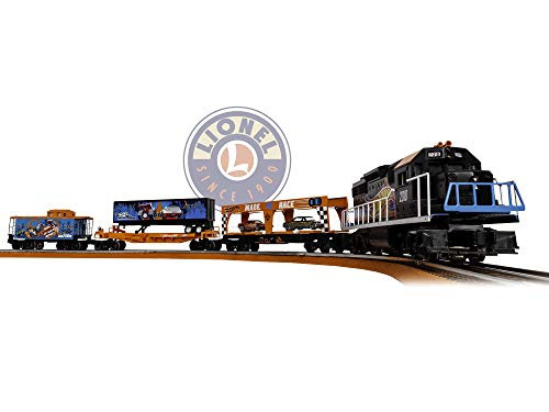 (Lionel Hot Wheels Electric O Gauge Model Train Set w/ Remote and Bluetooth Capability)