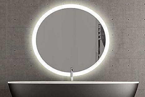 London specchio rotondo con led illuminazione bagno specchio