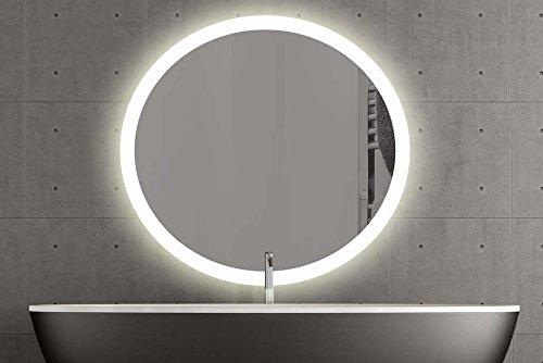 London runder Spiegel mit LED Beleuchtung Badspiegel Zimmer Spiegel ...