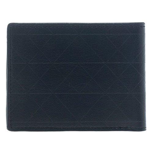 Official Superman Black Bi-fold Wallet with Silver Metal Badge