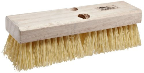 (Weiler 44434 Polypropylene Deck Scrub Brush with Wood Head, 4