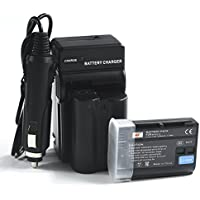 DSTE 2x EN-EL15 Battery + DC113 Travel and Car Charger Adapter for Nikon 1 V1 D500 D600 D800 D850 D800E D810A D750 D7000 D7100 D610 D7200 Camera