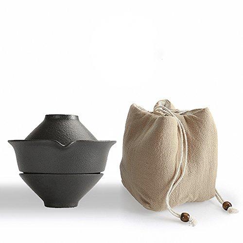 100% Handmade Chinese Kung fu Tea Portable Travel Tea Set – Teapot  Teacups  Bag