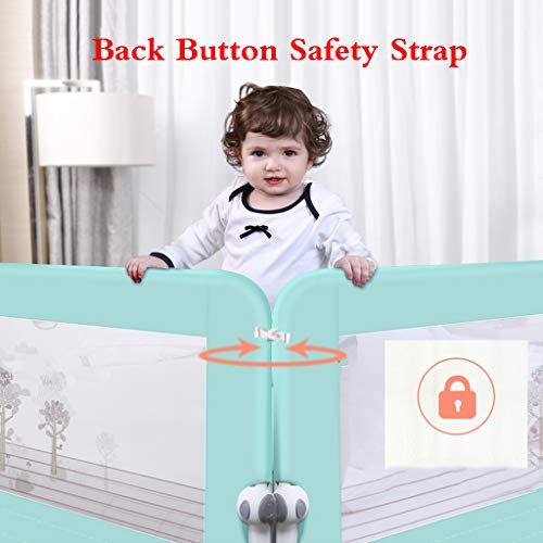 Bed Fence Baby Shatter-Resistant Protective Railing Guardrail Bedside Cot Bumper Sets Bedding Wrap Around Safety Protection Head Guard by SONGTING Guardrail (Image #1)
