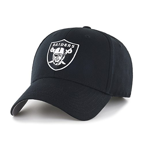 NFL Oakland Raiders Men's OTS All-Star Adjustable Hat, Black And White, One Size