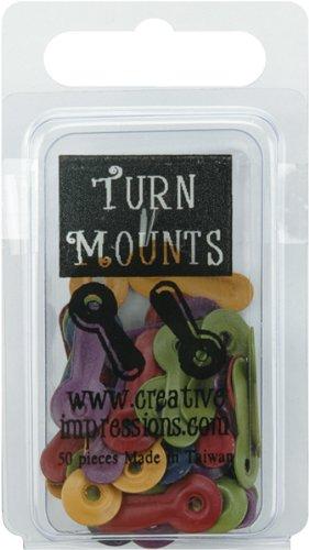 Brand New Painted Metal Turn Mounts 50/Pkg-Matte Heritage Brand New (Mounts Metal Turn Painted)