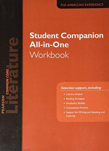 PEARSON LITERATURE 2015 COMMON CORE STUDENT COMPANION ALL-IN-ONE WORKBOOK GRADE 11