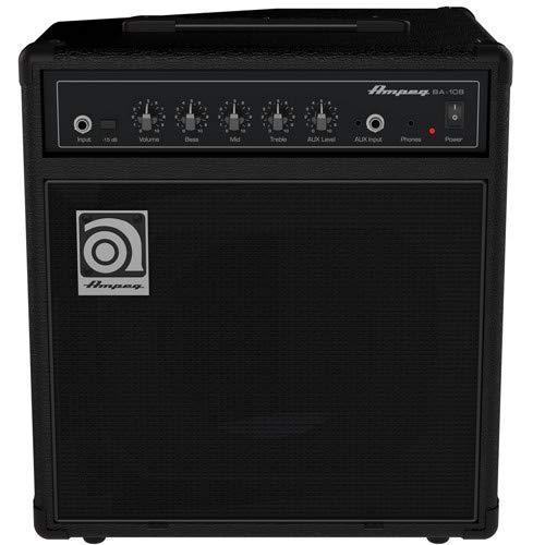 Ampeg Bass Combo Amplifier, Black, 20-watts (BA-108v2)