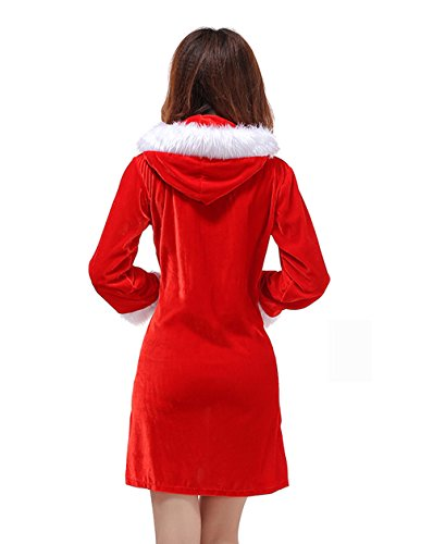 DH-MS Dress Christmas Costume Stage Red Dress (Disco Era Costumes)