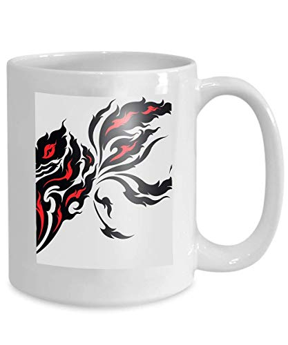 mug coffee tea cup tribal dragon tattoo design original based ancient asian style which found asia pacific countries Graphic 110z