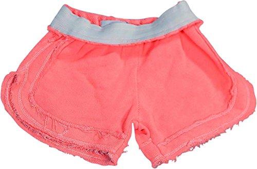 Play Six - Little Girls' Foldover Shorts, Neon Orange 31727-4