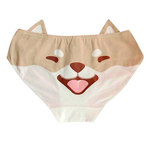 TOMORI Cute Girls Anime Panties Shiba Inu/Akita Dog Printed Cotton Underwear Brief Cosplay Costume (Akita Dog) ()