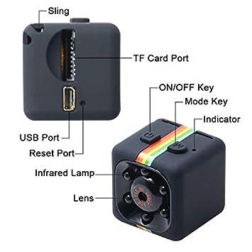 170c575d0ad981 Mini caméra SQ11 Caméscope HD 3.6mm Vision nocturne FOV140 1080P Sports Mini  DV Enregistreur vidéo