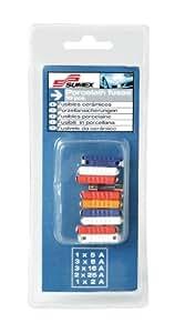 SUMEX 3505124 - Blíster 10 Unidades: Fusibles Cerámicos Amperaje Variado