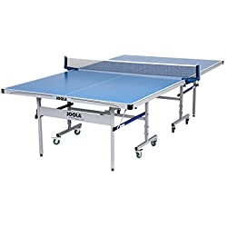 JOOLA NOVA Outdoor Table Tennis Table with Aluminum Composite Top for Tournament Quality Playability and All-Weather Durability - Featuring 10-Minute Assembly and Weatherproof Net Set