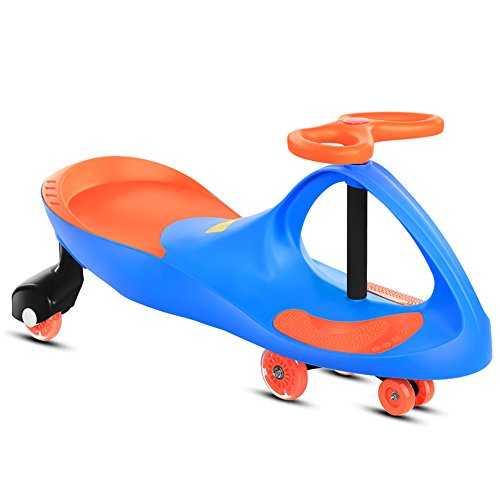 wist Car 1-3-6 Years Old Boys Girls Baby Universal Wheel Swing Slippery Scooter Silent Kids Shake Balance (Color : Blue) ()