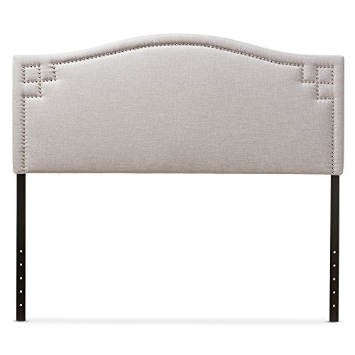 Baxton Studio Gallia Modern & Contemporary Fabric Upholstered Headboard, Queen, Greyish Beige by Baxton Studio