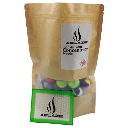 ABLAZE 50 Pcs Silicone Ball Wax Container Bulk Shatter Concentrate Nonstick Non Stick Jar 5ml by Ablaze (Image #3)