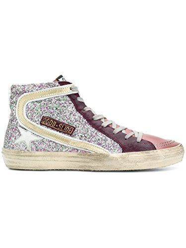 fake sale online Golden Goose Women's G32WS595T7 Purple Glitter Hi Top Sneakers cheap 2015 new cheap sale latest collections IP3ZnbR