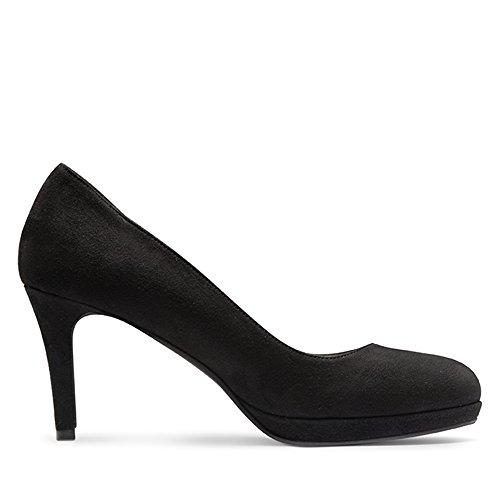 Evita Shoes - Zapatos de vestir de ante para mujer Damen34_42 negro - negro