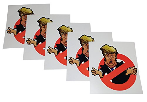 Set of 5 Anti Trump Political Bumper Stickers. Funny Donald Trump/Hillary Clinton 2016 Election