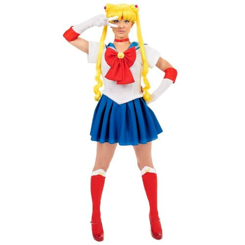 Sailor Moon Teen Costume (As Shown;One Size) (Teen Sailor Costume)