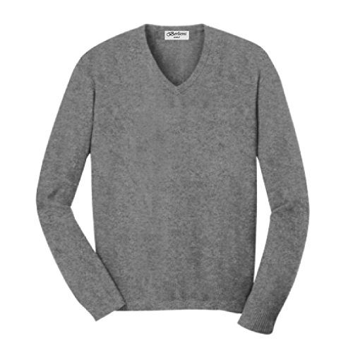 Buy grey v neck sweater with dress shirt - 3
