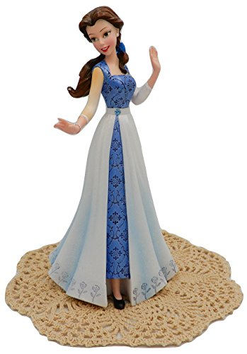Enesco Disney Showcase Couture de Force Princess Stone Resin Figurine with Westbraid Doily (Belle in Blue Dress)