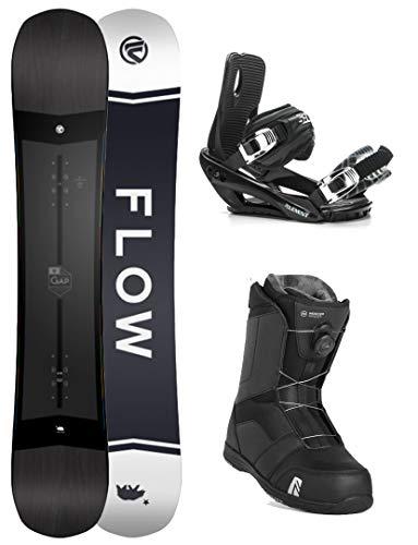 Flow 2020 Gap 156cm Men's Complete Snowboard Package Bindings BOA Boots - Updated