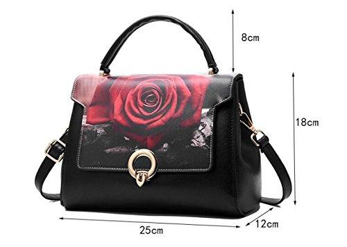 La Hebilla Magnética Crossbody Impresión Elegante Señora Moda Bolsos Hombro Bolsos Ms F JPFCAK Bag Bag Hand De De RFOqznwUCW