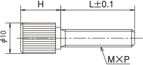国産 ステンレス ローレットねじ 段付 10φ×10H M5×L10 2ヶ入 NU-510RD